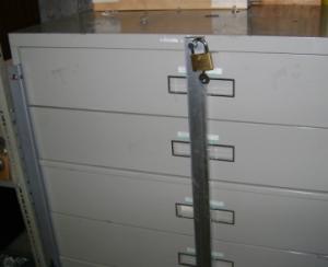 Cabinet lock bar